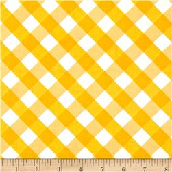 Sundborn Garden Criss Cross Plaid Gold Fabric