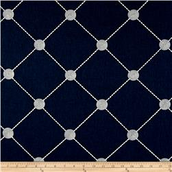 Kelly Ripa Home Fanfare Embroidered Indigo