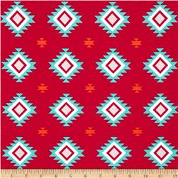 Riley Blake Stretch Cotton Jersey Knit Aztec Hot