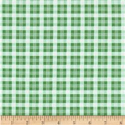 Verna Mosquera Peppermint Rose Christmas Plaid Pine