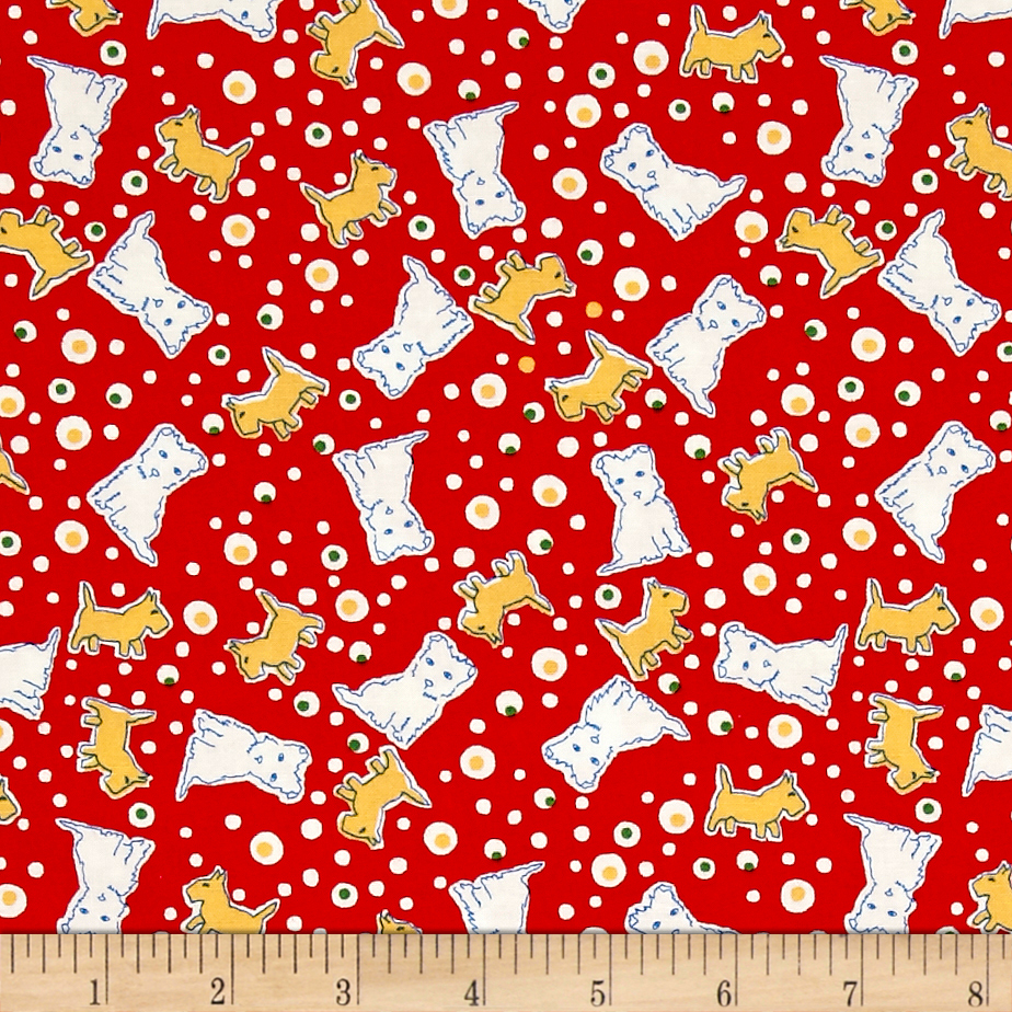 Image of Penny Rose Toy Chest 2 Dog Red Fabric