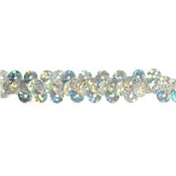 3/8'' Hologram Stretch Sequin Trim Aqua Silver