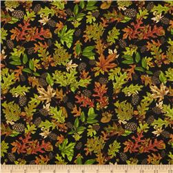 Cabin Country Leaf Toss Black