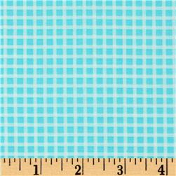 Michael Miller Cute Zoo Plaid Aqua