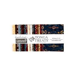"Timeless Treasures Batik Tonga 5"" Square Packs Sophisticate"