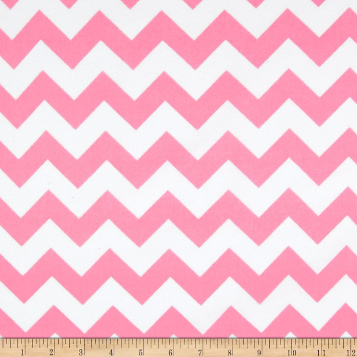Riley Blake Flannel Basics Chevron Medium Baby Pink