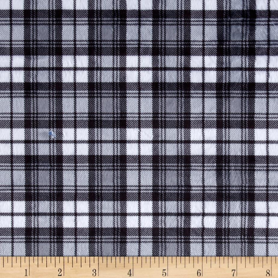 Minky Swatch Plaid Grey
