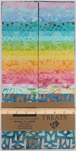 "Timeless Treasures Tonga Batik 2.5"" Strip Packs"