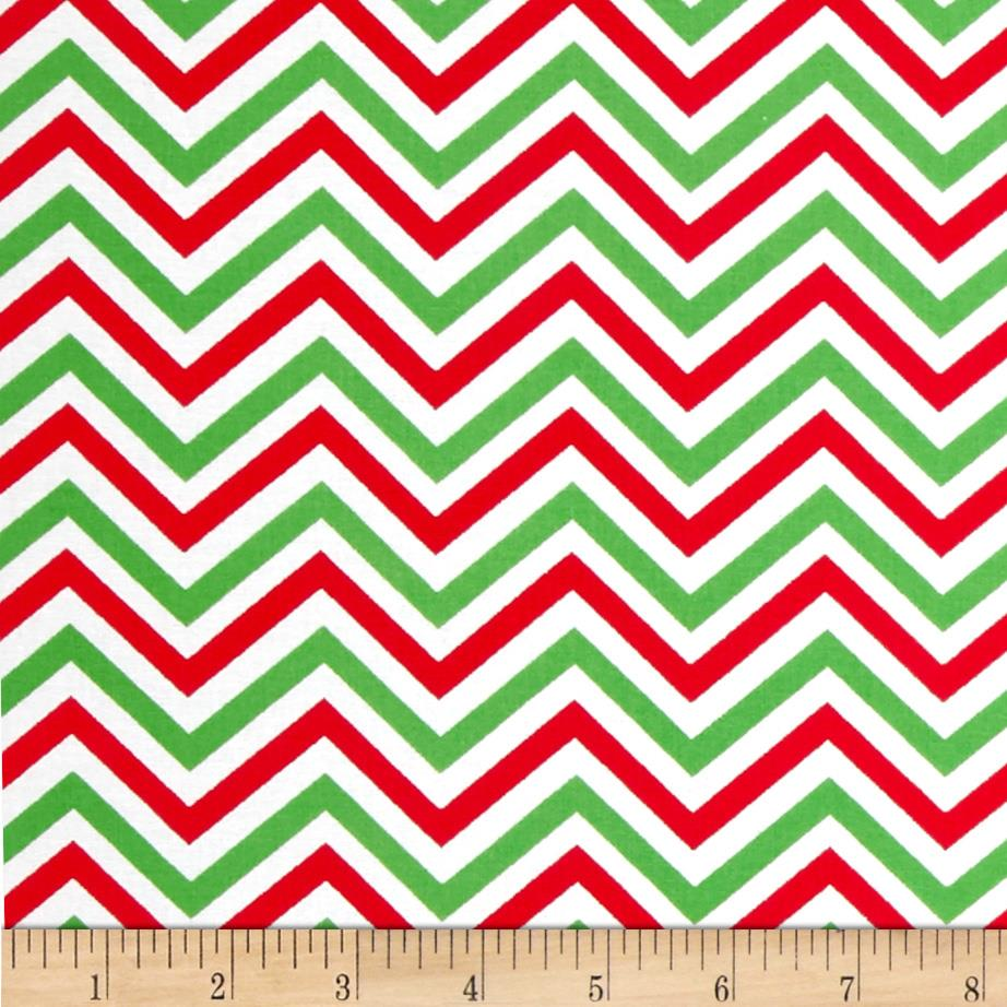 Christmas Basics Festive Chevron Red/Green