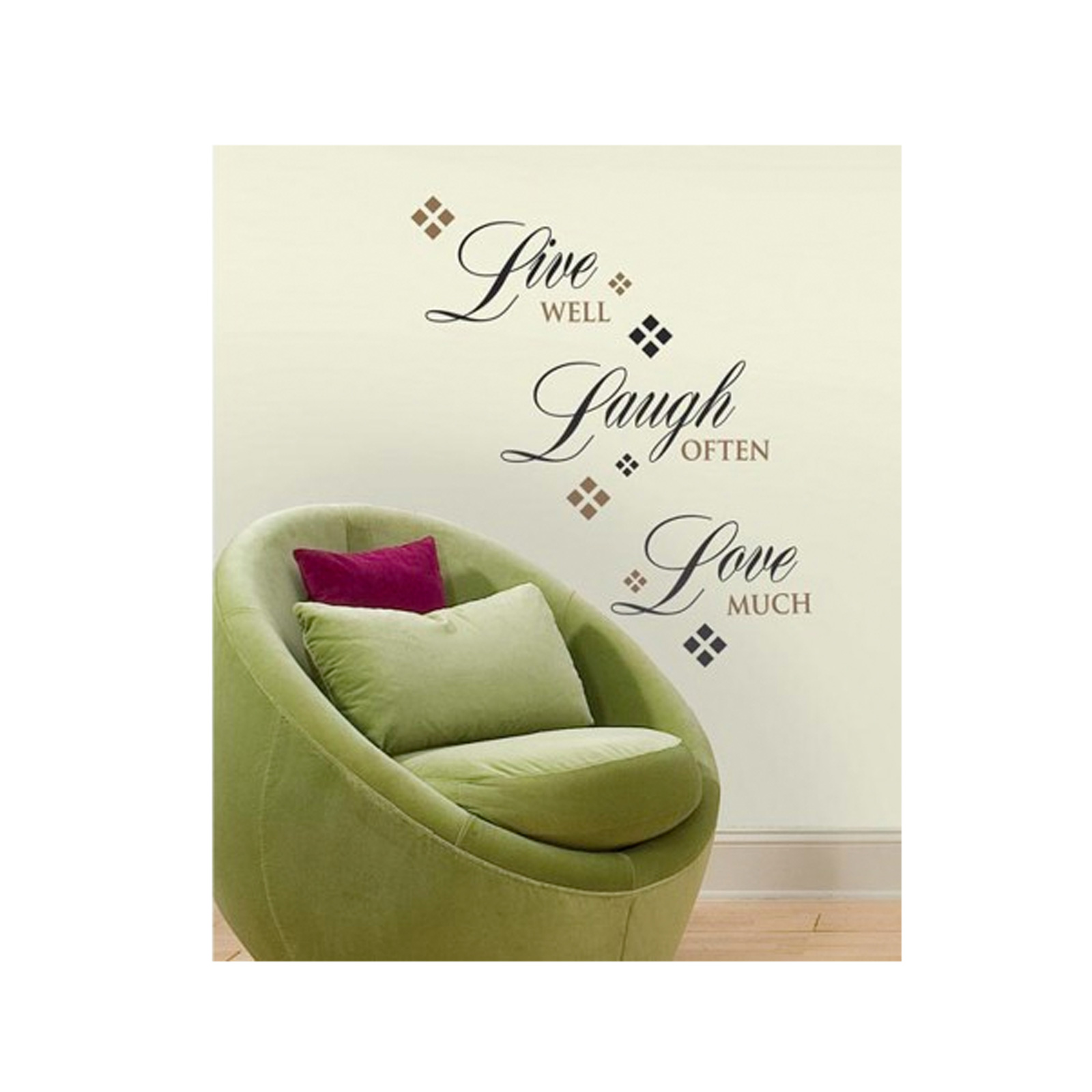 Live Laugh Love Single Sheet Wall Decal by Stardom Specialty in USA