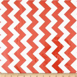 Riley Blake Laminated Cotton Medium Chevron Rouge