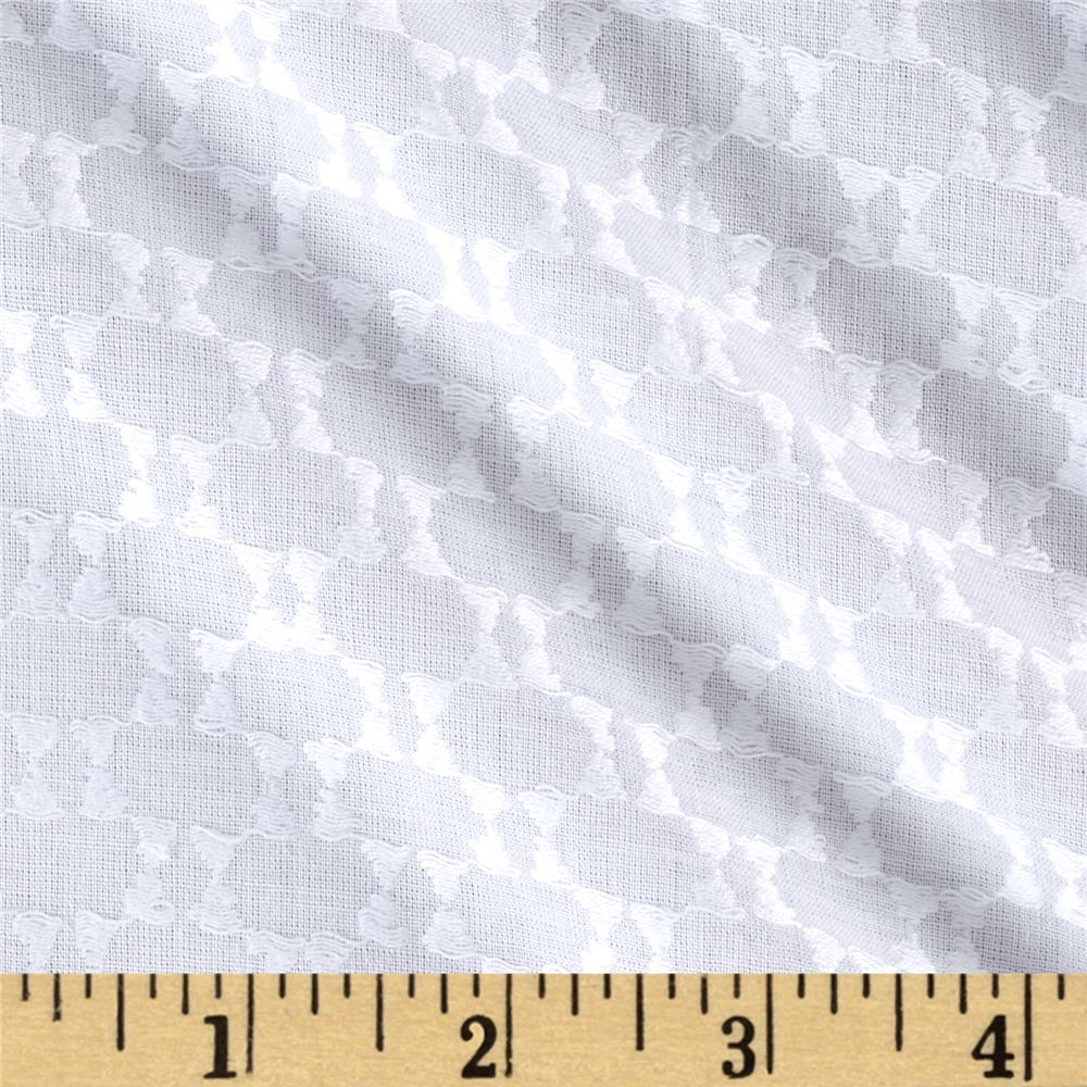 Sheer Abstract Dot White Fabric By The Yard