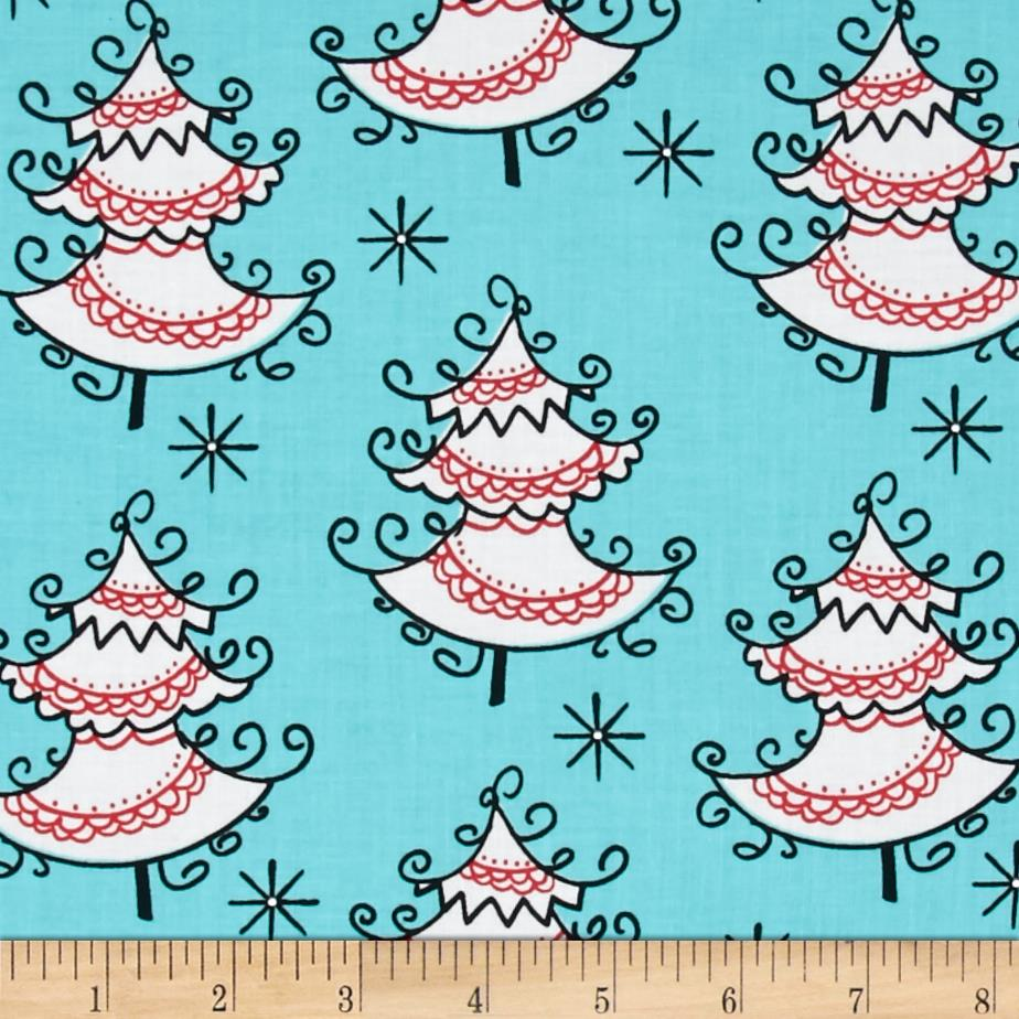 Michael Miller All the Trimmings Trim the Trees Ribbon Fabric By The Yard