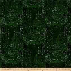 Silver Circuits Metallic Tonal Circuit Green