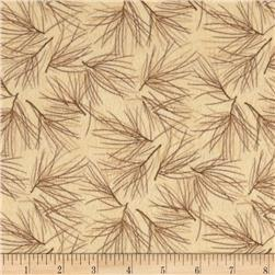 Moda Winter Forest Flannel Needles Cream