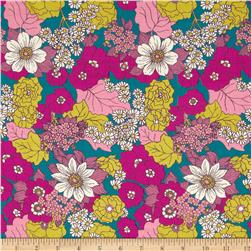 Joel Dewberry Bungalow Rayon Challis Dainty Daisies Lavender
