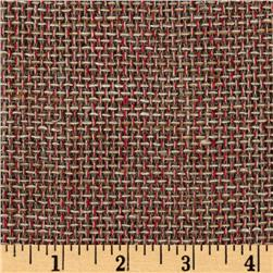 Uptown Tweed Raw Silk Suiting Stone/Red