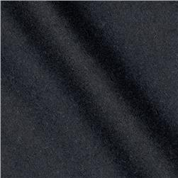 Wool Blend Melton Navy Fabric