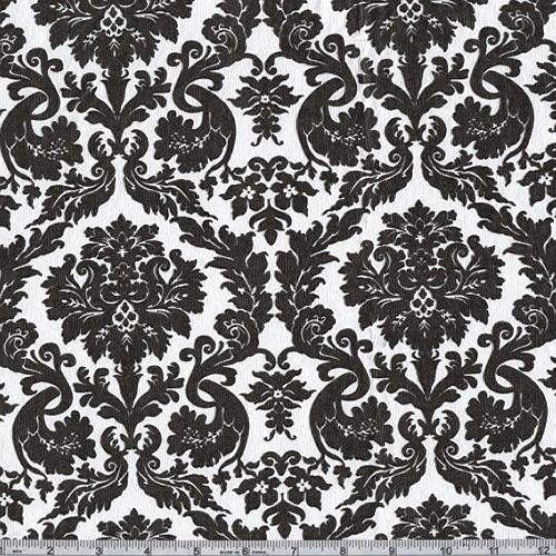 Flannel Backed Vinyl Acanthus Black U0026 White   Discount Designer Fabric    Fabric.com