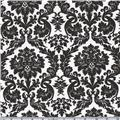 Flannel Backed Vinyl Acanthus Black & White
