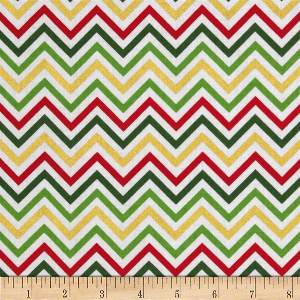 Remix Metallic Small Chevron Holiday
