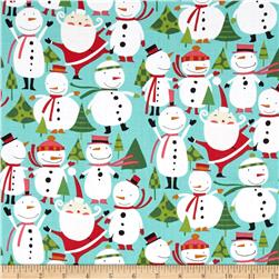 David Walker Winter Wonderland Merry Snowmen Peppermint