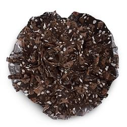 3-1/4'' Large Prairie Flower Applique Brown