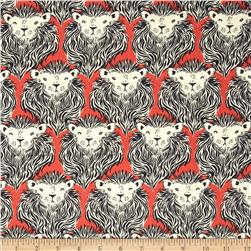 Cotton & Steel August Lion Coral