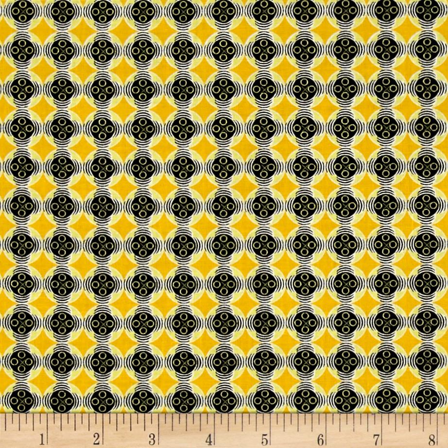 Kanvas Needles & Pins Button Geo Yellow