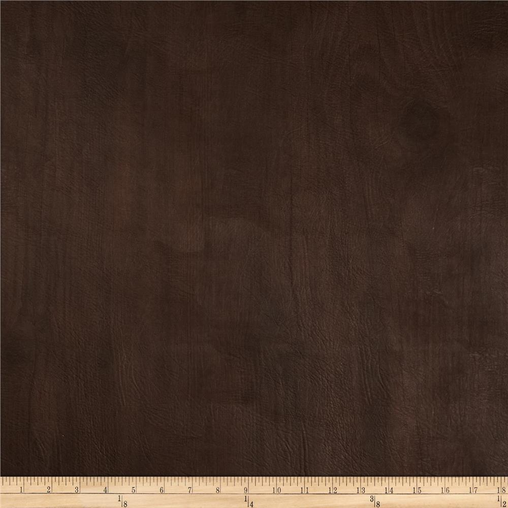 Richloom Faux Leather Faux Bois Dellwood Walnut