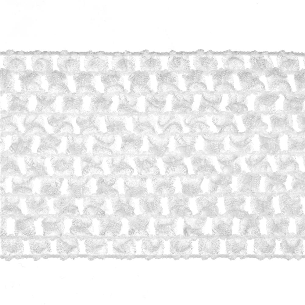 "2 3/4"" Crochet Headband Trim White"