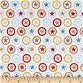 Riley Blake Lucky Star Circle Cream