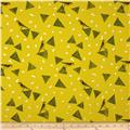 Kokka Echino Huedrawer Sateen Metallic Triangle Birds Puce
