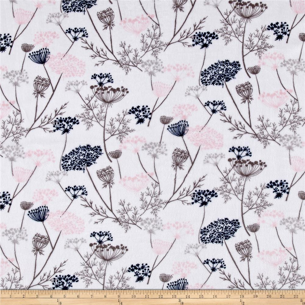 Shannon Minky Cuddle Queen Ann Lace Blush Fabric