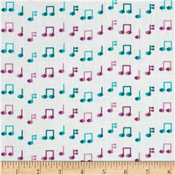 Jazz Between Friends Notes Sweet Fabric