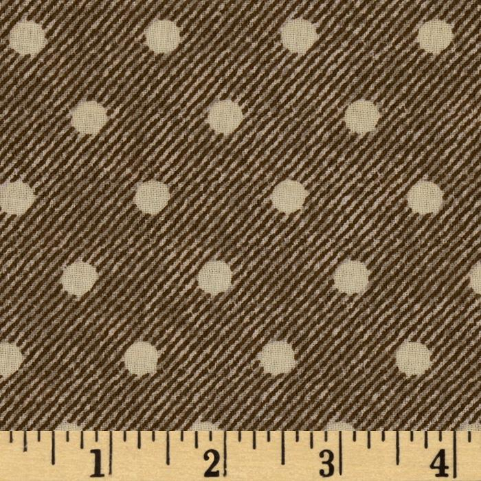 VIP Denim Texture Polka Dot Brown/Tan