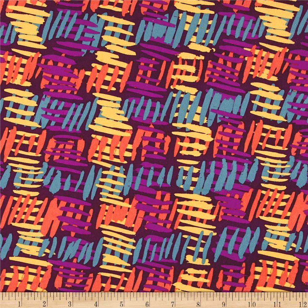 Double Brushed Jersey Knit Abstract Multi