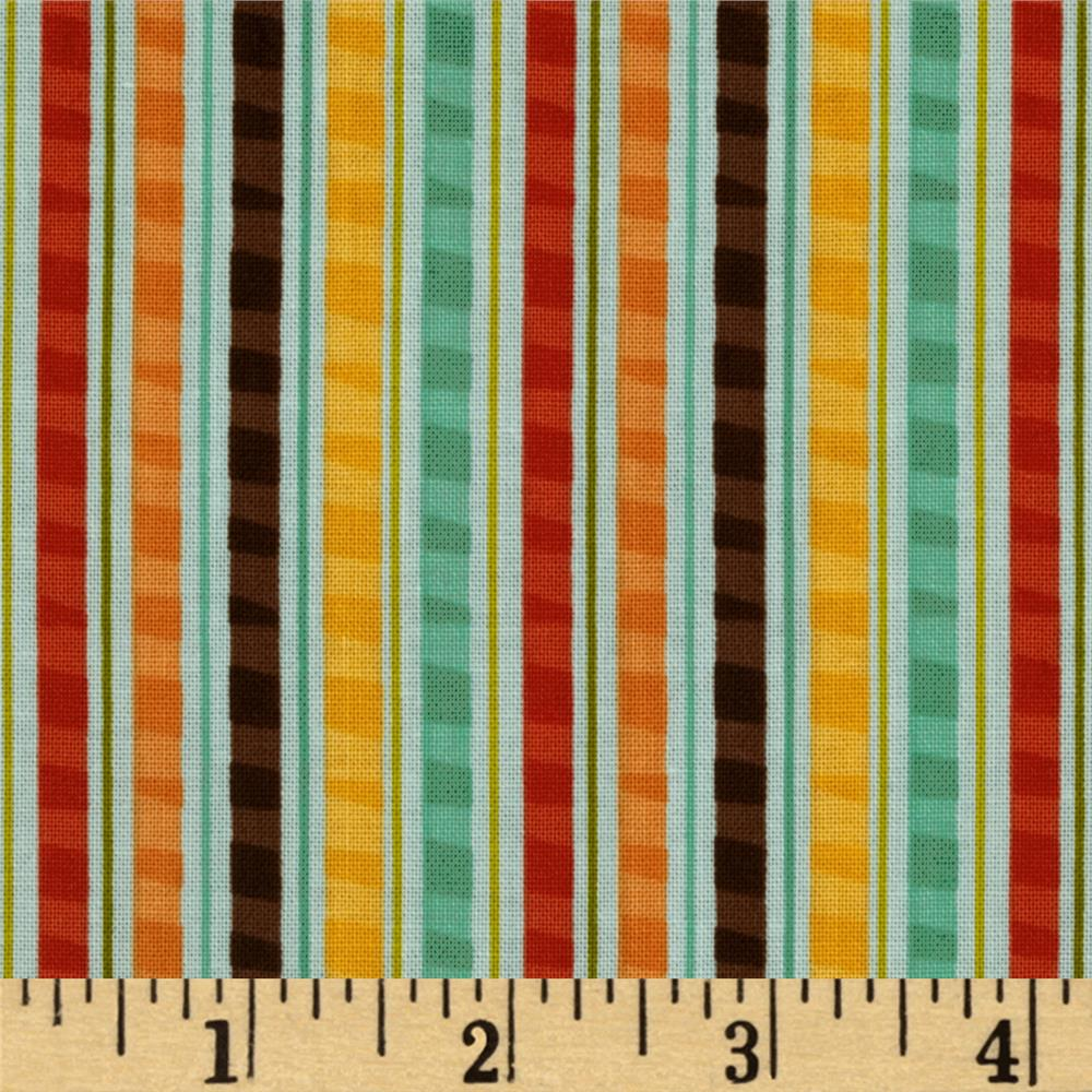 Riley Blake Giraffe Crossing Giraffe Stripe Teal