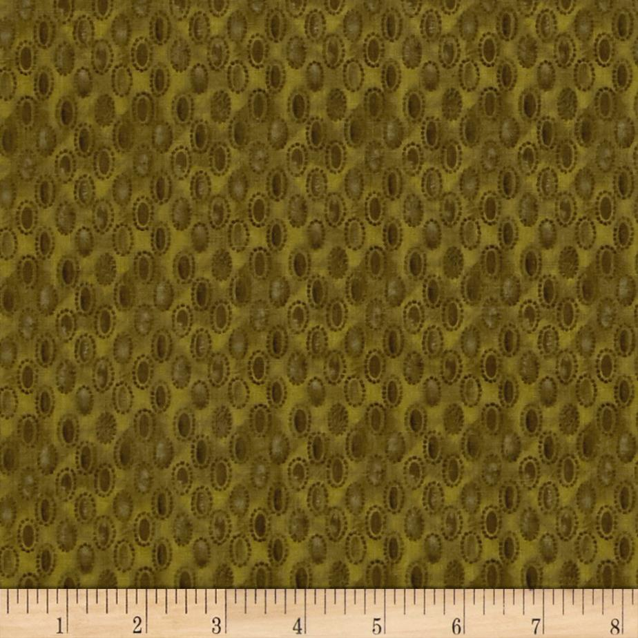 Focus II Raindrops Olive Green