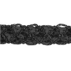 3/4'' Christina Braided Sequin Trim Roll Black