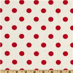 Moda Dottie White/Red
