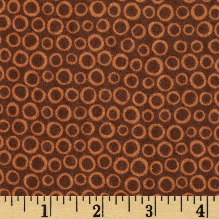 Into the Woods Flannel Circle Brown