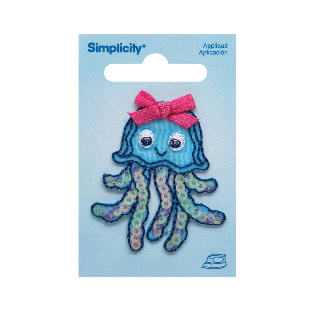 Simplicity Iron On Applique Sequin Jellyfish