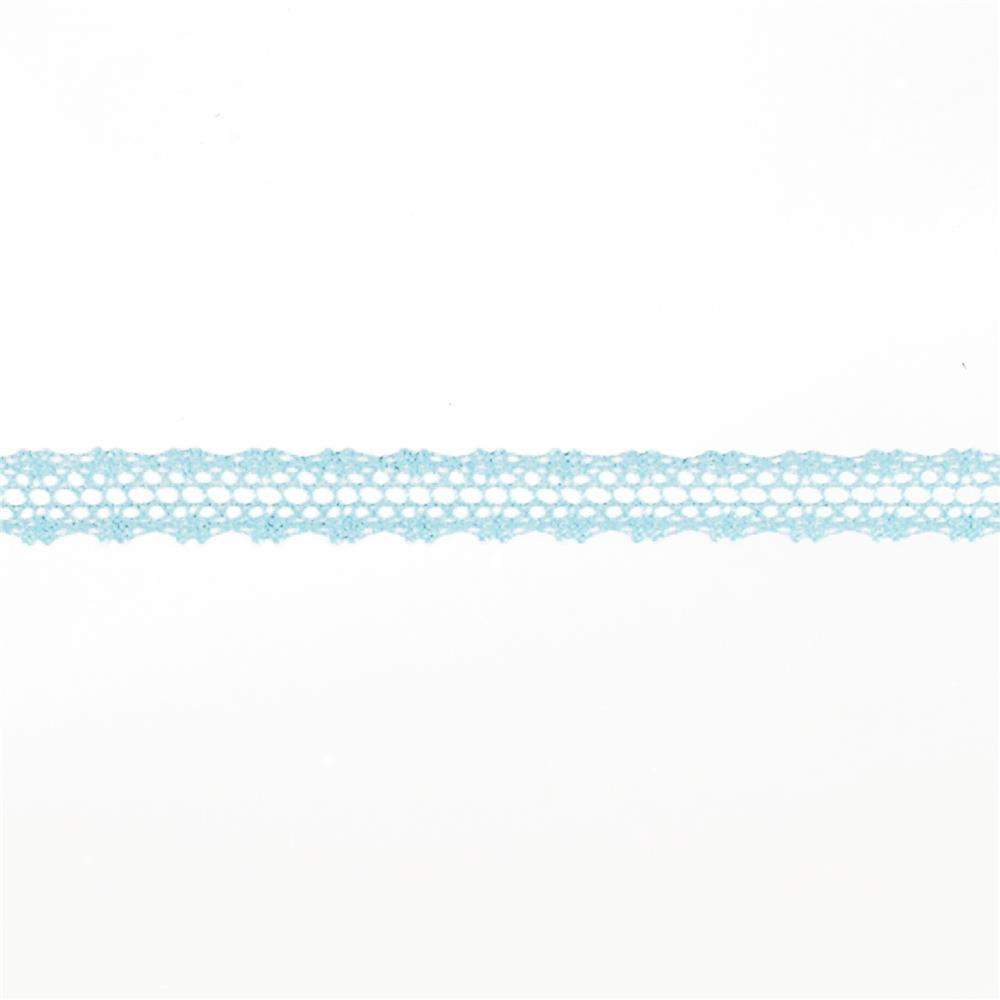 "May Arts 5/8"" Crochet Lace Ribbon Spool Light Blue"