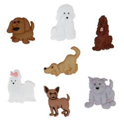 Dress It Up Embellishment Buttons  Puppy Parade
