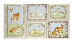 "Kaufman Fawns & Friends 23.5"" Panel Pink"