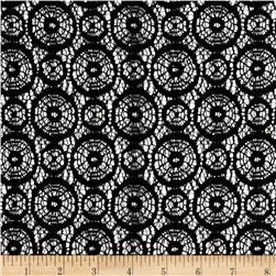 Designer Crochet Lace Black