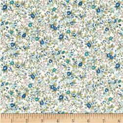 Kaufman Sevenberry Bouquet Large Flower Blue
