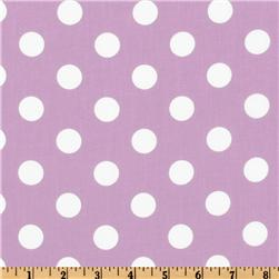 Forever Large Polka Dot Lilac Fabric