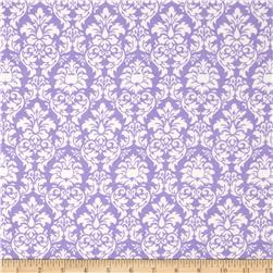 Michael Miller Baby Flannel Petite Dandy Damask Purp